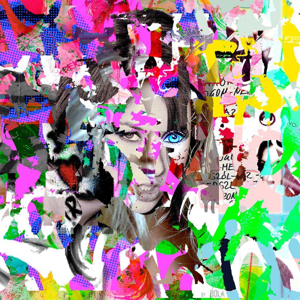 comic, graffiti, collage, retrato, pop art
