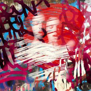 pop art, graffiti, retrato, tag