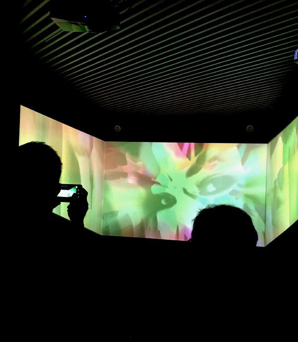 Allegro Bárbaro es una propuesta expositiva modular, compuesta por obra gráfica de gran formato, animaciones visuales en pantallas de TV y un vídeo inmersivo 180º